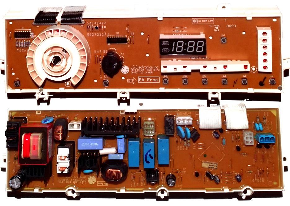 Электронный модуль управления Стиральной Машины LG 6871EN1040D