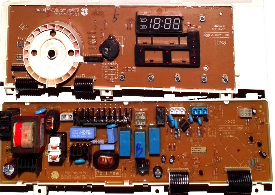 Электронный модуль управления Стиральной Машины LG 6871EN1039B