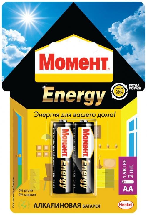 Батарейки Момент Energy 2098780 AA1,5V LR6 (х 2 блистер)