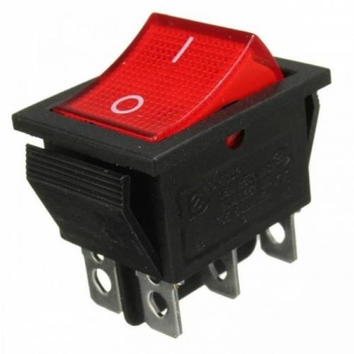 Переключатель клавишный KCD2 ( 6 контактов черный )