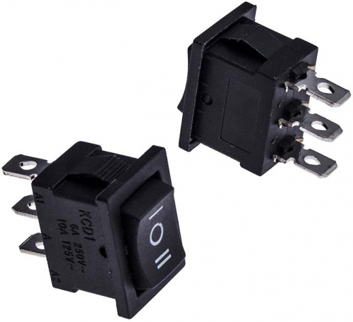 Переключатель клавишный KCD1( 3 контакта черный )