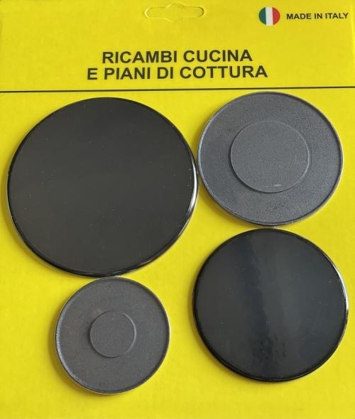 Комплект крышек рассекателя (горелки) Плиты UNIVERSAL CU8012 ( 4 шт. )