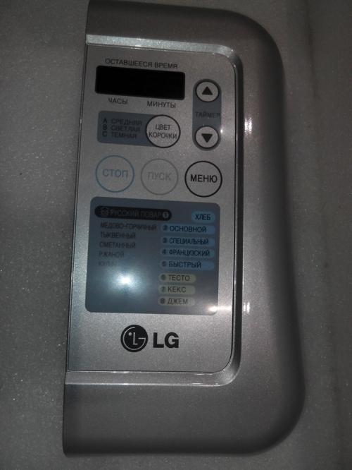 Панель управления Хлебопечи LG EBZ60822114