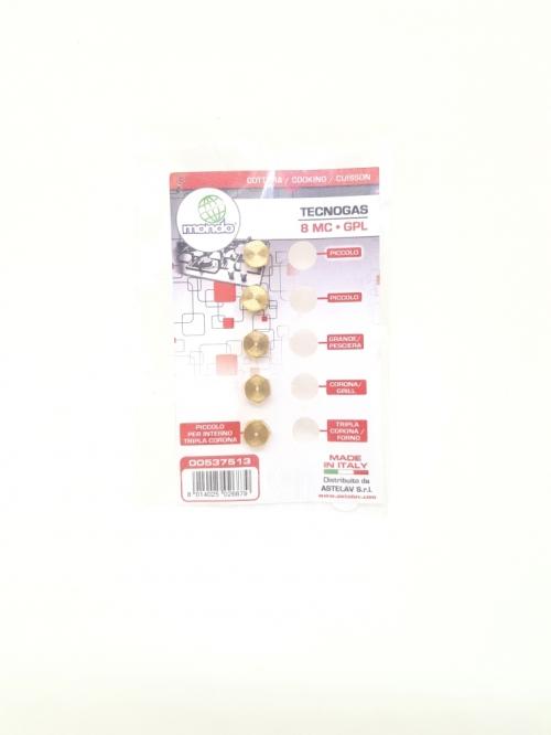 Комплект Форсунка ( жиклер ) Плиты TECNOGAS 00537513 ( 8 MC GPL )