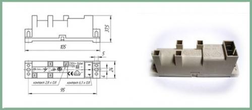 Блок электророзжига Плиты GEFEST БР1-4 ( 3ВХ — 4ВЫХ )