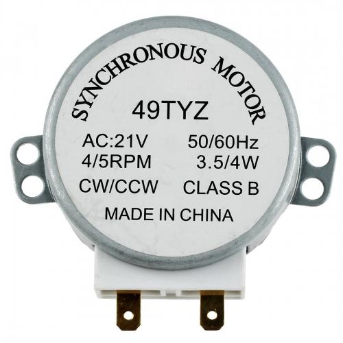 Мотор привода тарелки СВЧ-печи UNIVERSAL 49TYZ ( 21V 4W, 3.4/5RPM )