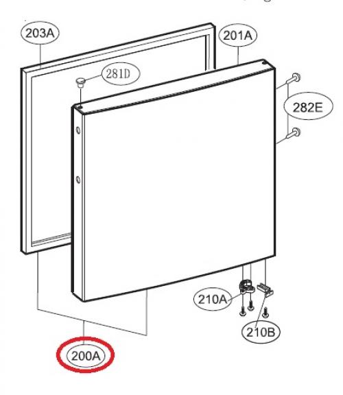 Дверь морозильной камеры в сборе Холодильника LG ADC74965839